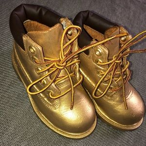 18k Gold Custom timberland construction boots